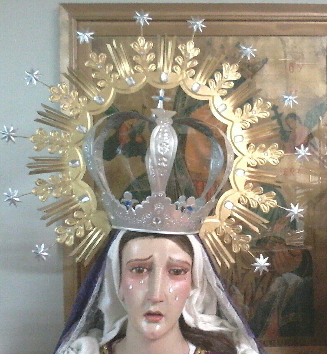Corona imperial con ramas de olivo y 12 estrellas