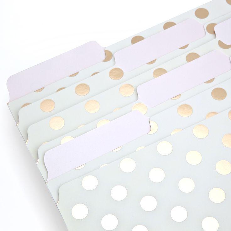 Kate Spade File Folders   Dot. Pretty Office Supplies.