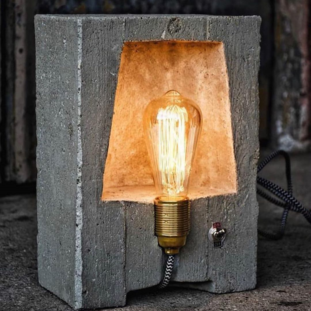 Vogue Design On Instagram Concrete Lamp Design By Pan Kracy Rate This Design From 1 To 10 En 2020 Diy Luminaire Idee Luminaire Lampadaire Exterieur Design