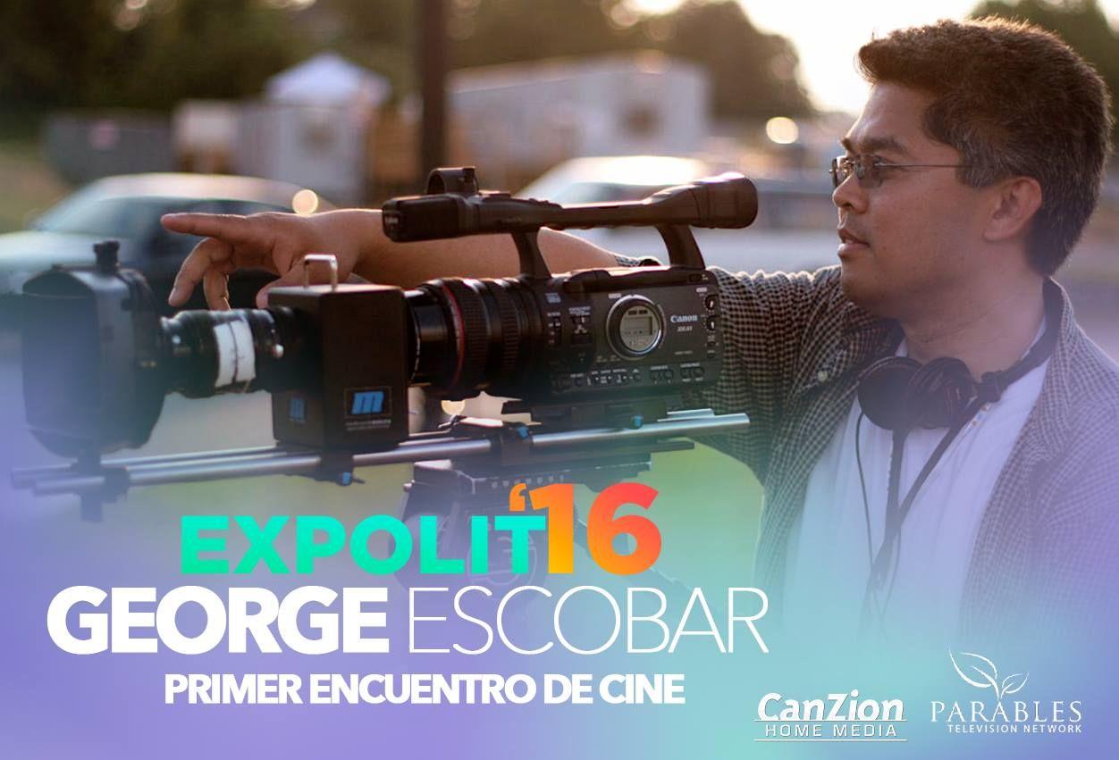 George Escobar estará presente en el #PrimerEncuentroDeCine en #Expolit2016 el próximo 15 de septiembre donde él junto con otros profesionales del cine estarán impartiendo capacitación, talleres exclusivos y mucho más. ➜ http://bit.ly/29jq9DO