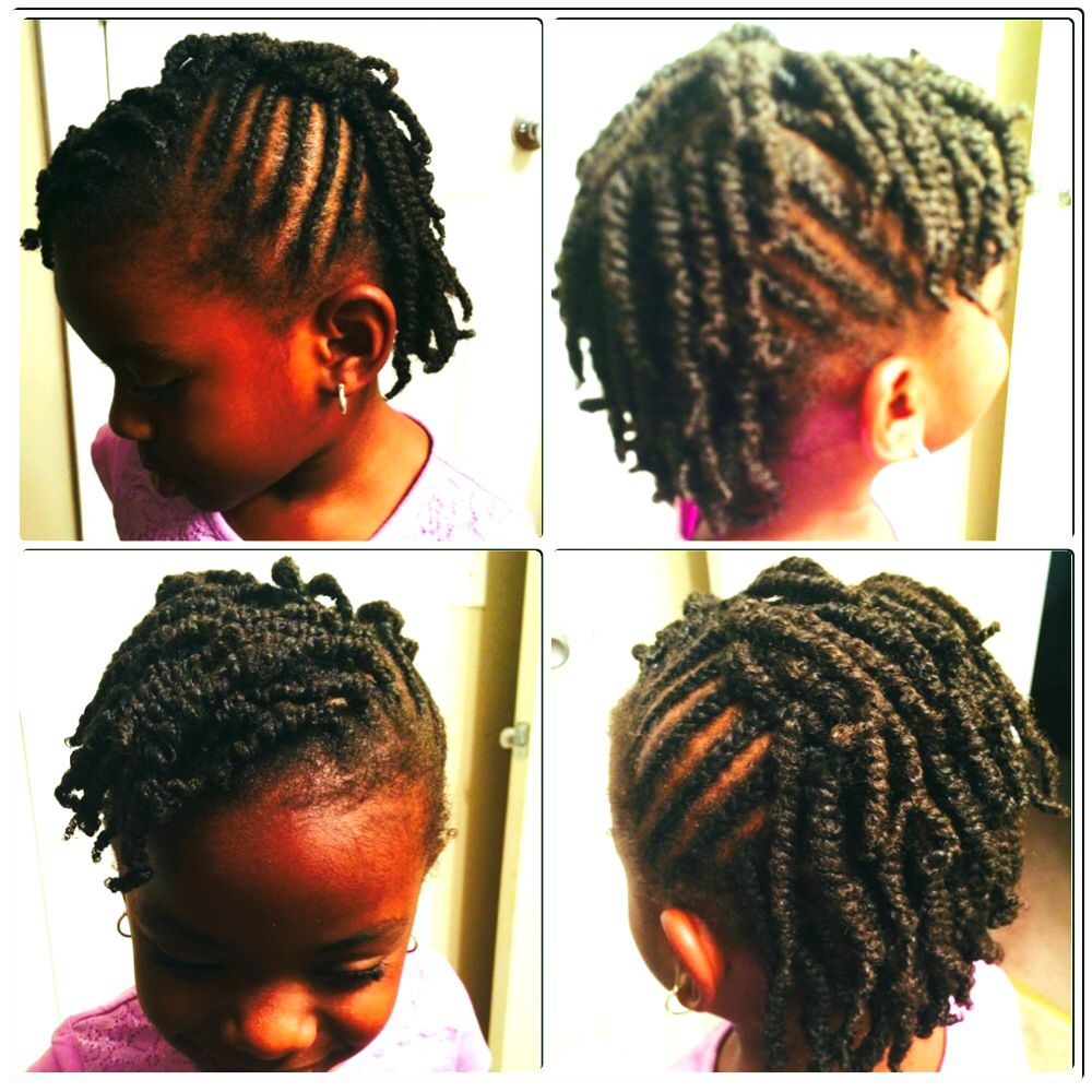 Natural Girl Hairstyles Natural Little Girls Ji's Hair For The Week African American Hair