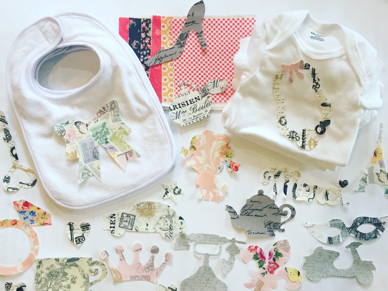 Parisian Baby Girl Baby Shower Kit, Baby Girl Shower Kit, Onesie Decorating  Kit,