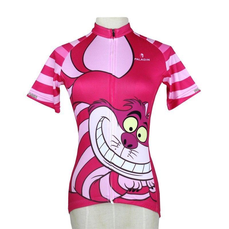 New Short Women Cycling jersey Girl Biking Shirt Rider Clothing Red Cat  S-3XL 7a5d65b53