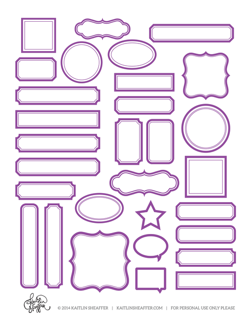 Free printable label sheets lots