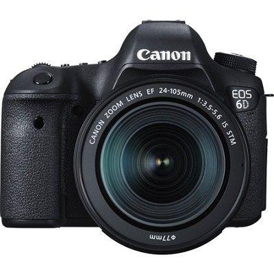 Canon Eos 6d Full Frame 20 2 Mp D Slr With Ef 24 105mm Is Stm Lens Kit Digital Slr Camera Best Canon Lenses Canon Eos