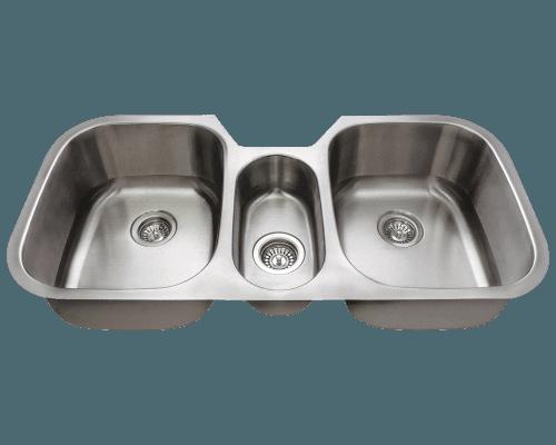 Stainless Steel Sink 42 3 4 Triple Bowl Undermount Kitchen Sink Polaris P1254 In 2020 Stainless Steel Kitchen Sink Undermount Kitchen Sinks Stainless Steel Kitchen Sink Undermount