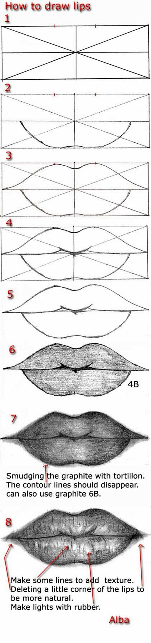 40 Easy Step By Art Drawings To