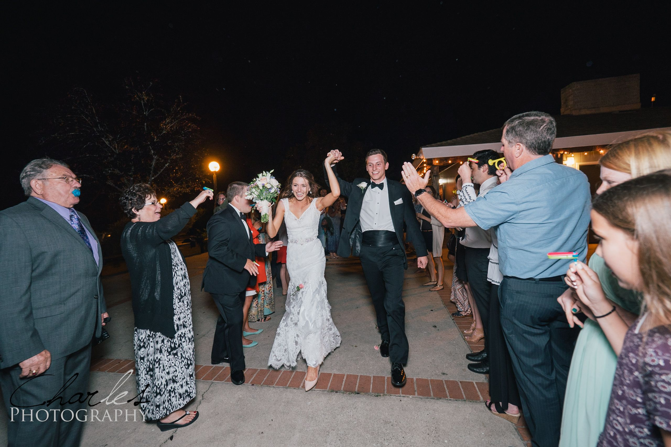 California Wedding Photographed by Charles Le Photography - Reception! Mr. & Mrs. Send off!!