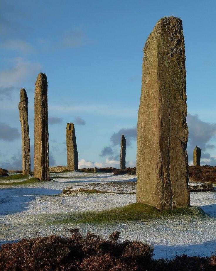 Stones of Brodgar, Orkney, Scotland - #Brodgar #culture #Orkney #Scotland #Stones #travelscotland