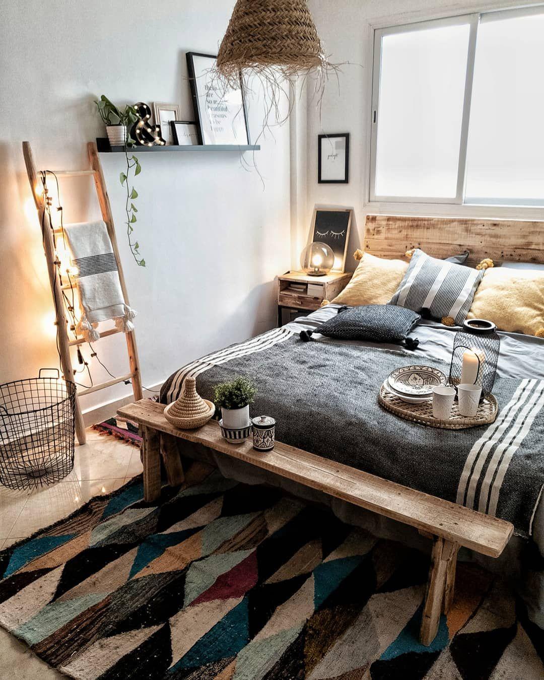 Unser BohoSchlafzimmer eingerichtet mit Wohnaccessoires