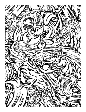 Great for aquatic artists this printable adult coloring page is