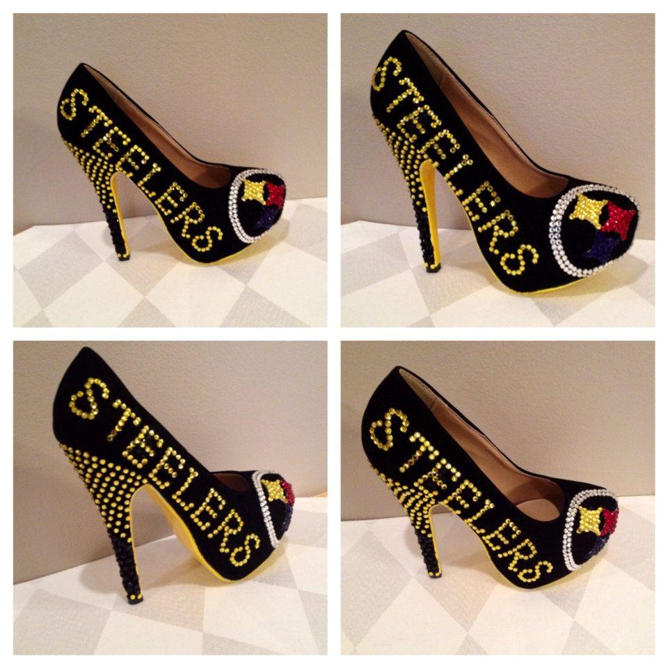 0e23ae688f9 Custom heels Pittsburgh Steelers heels steelers by Blingshoeshop ...
