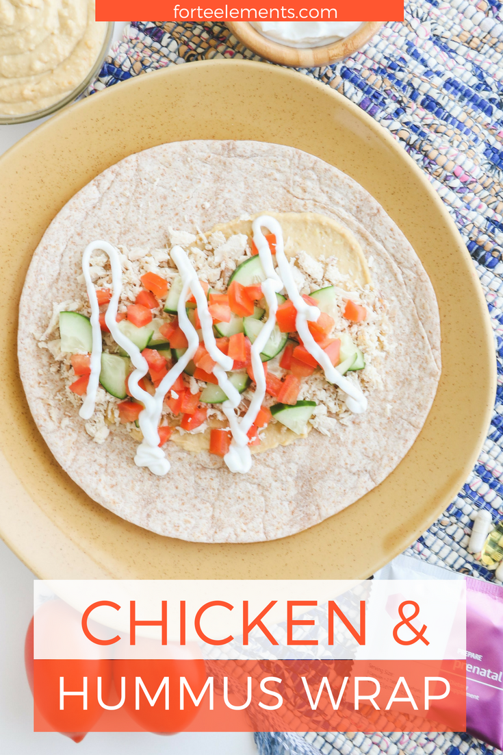 forté recipes chicken and hummus wrap  hummus wrap food