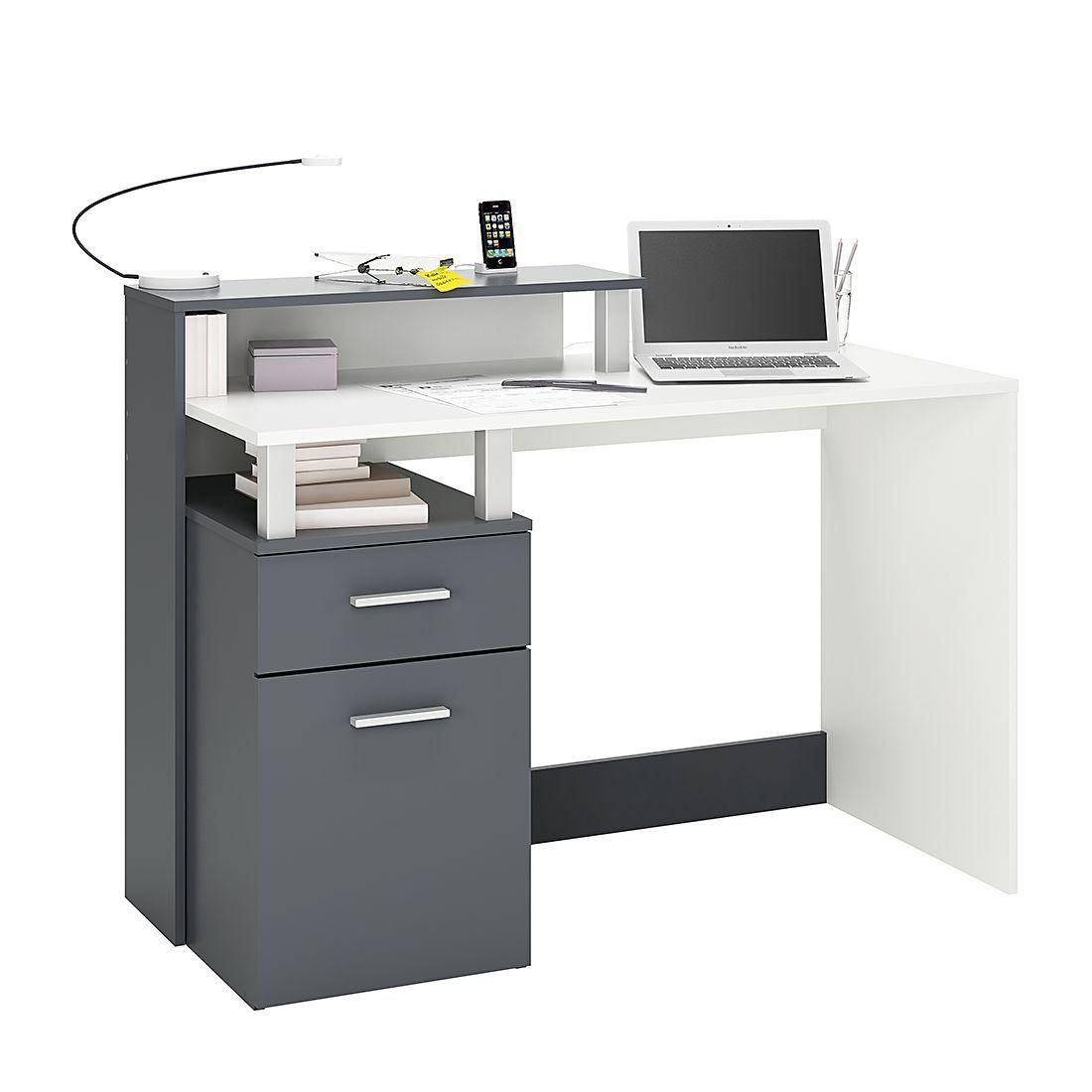 Exquisit Schreibtisch Weiß Grau Sammlung Von Marseille - Weiß / Grau, California Jetzt