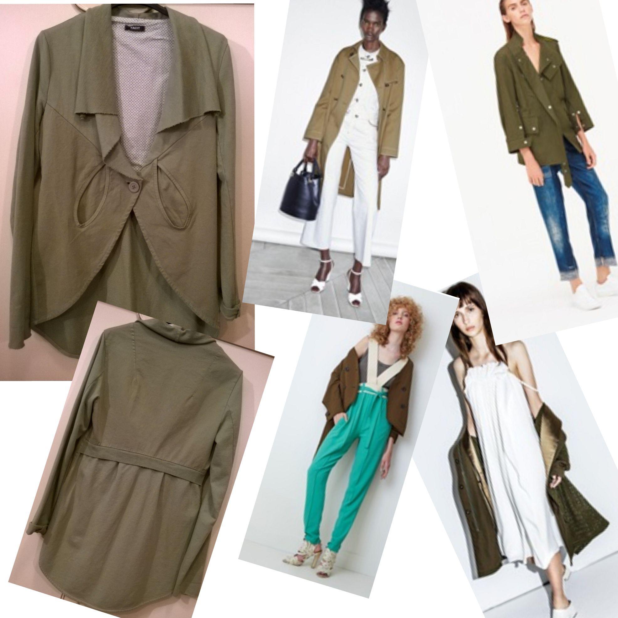 Military green jacket by Facit Italy for Spring Summer 2016 ----- spolverino di felpa verde militare per Primavera Estate 2016 #fashion #summer2016 #spring2016 #moda #Italia #estate2016 #saldi #peimavera2016 #f