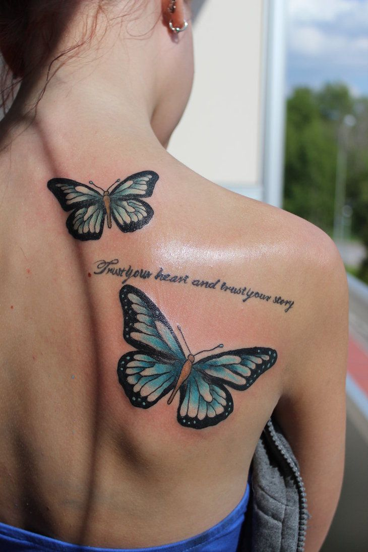 20 Cute Butterfly Tattoos On Back For Women Butterfly Back Tattoo Butterfly Tattoo Butterfly Tattoos For Women
