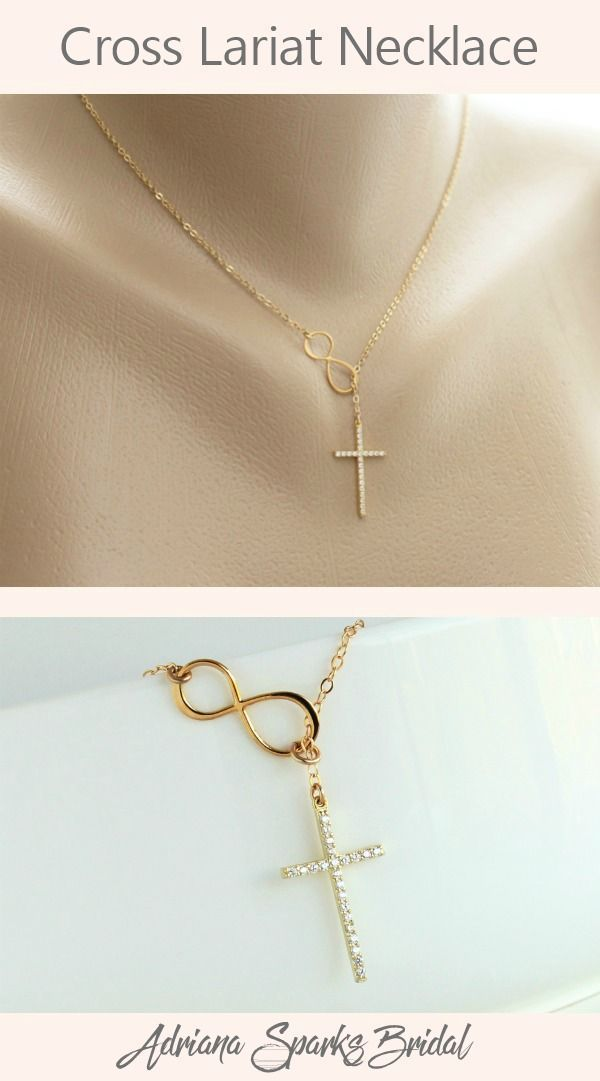 Photo of Cross Infinity Necklace Gold | Mother of the Groom Gift from Bride