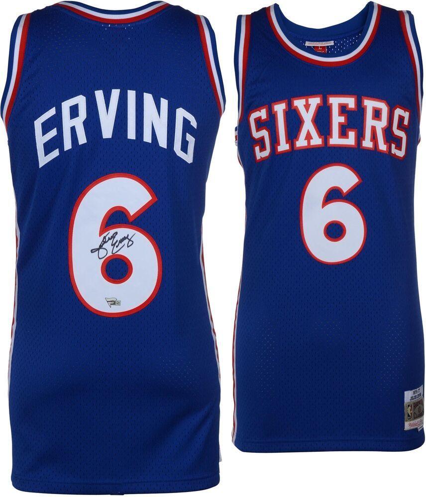 3a3eed8255c9 Julius Erving 76ers Signed Blue M N 1982-83 Hardwood Classics Swingman  Jersey  sportsmemorabilia  autograph  basketballjersey