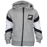 Nike Air Fleece Full Zip Hoodie Boys' Preschool Grey