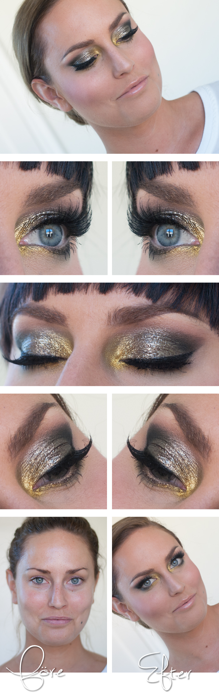 Todays look – Fridah I just love how Linda does brows... amazing... the model girl has amazing eyes and face