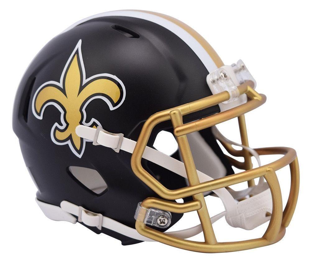 New orleans saints blaze revolution speed mini helmet riddell brand  hot sale