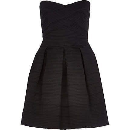 Black bandage bandeau prom dress 65,00 €