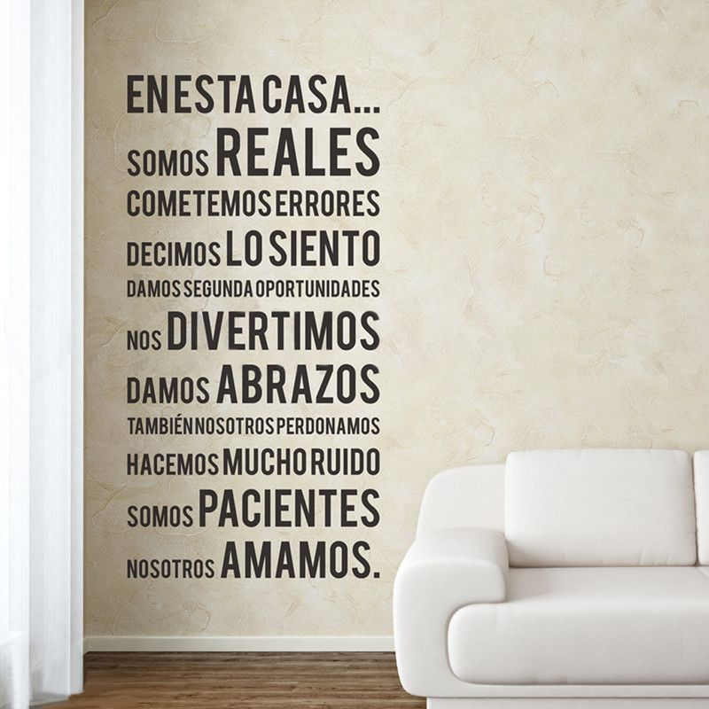 Spanish House Rules In This House Quotes Vinyl Wall Decals