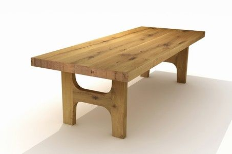 Massivholz Esstisch Woodi 8cm nach Maß Идеи для дома