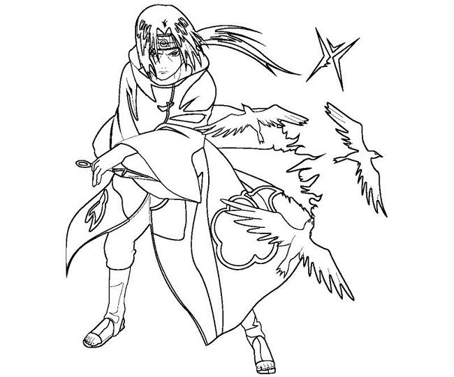 coloring page of itachi | Anime/Manga to color | Pinterest