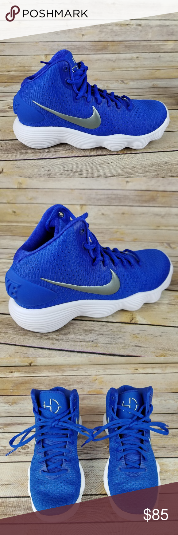 ac81ac6ebb94 Nike Hyperdunk 2017 TB Game Royal Blue  Silver Brand new without the box.  Never been worn. Size 7. Pretty royal blue and metallic silver color. Nike  Shoes ...