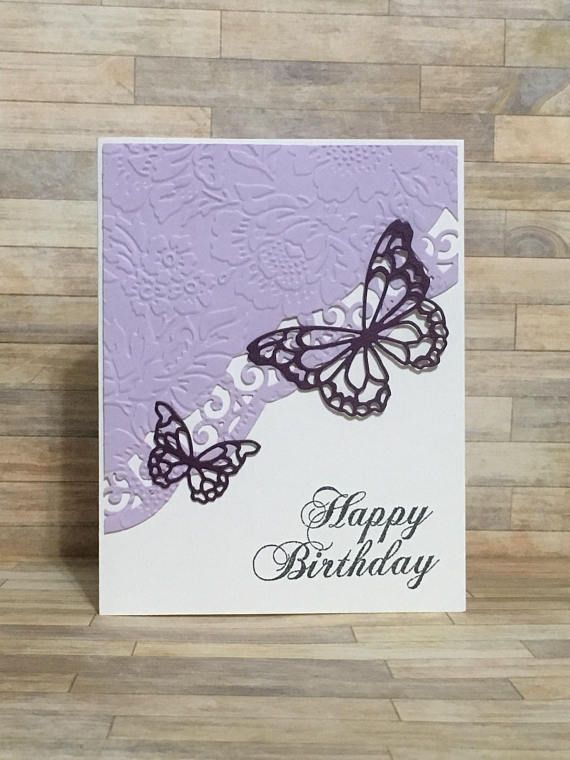 Birthday Card Handmade Card Greeting Card Floral Design