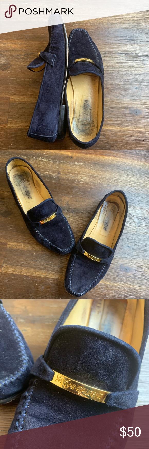 Vintage classic YSL flats shoes