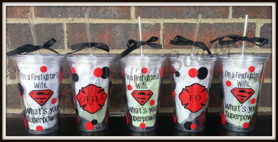Firefighters Wife Tumbler Personalized 16 Oz Acrylic