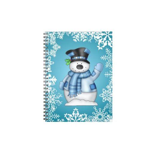 Christmas Snowman Holiday Cartoon Note Book