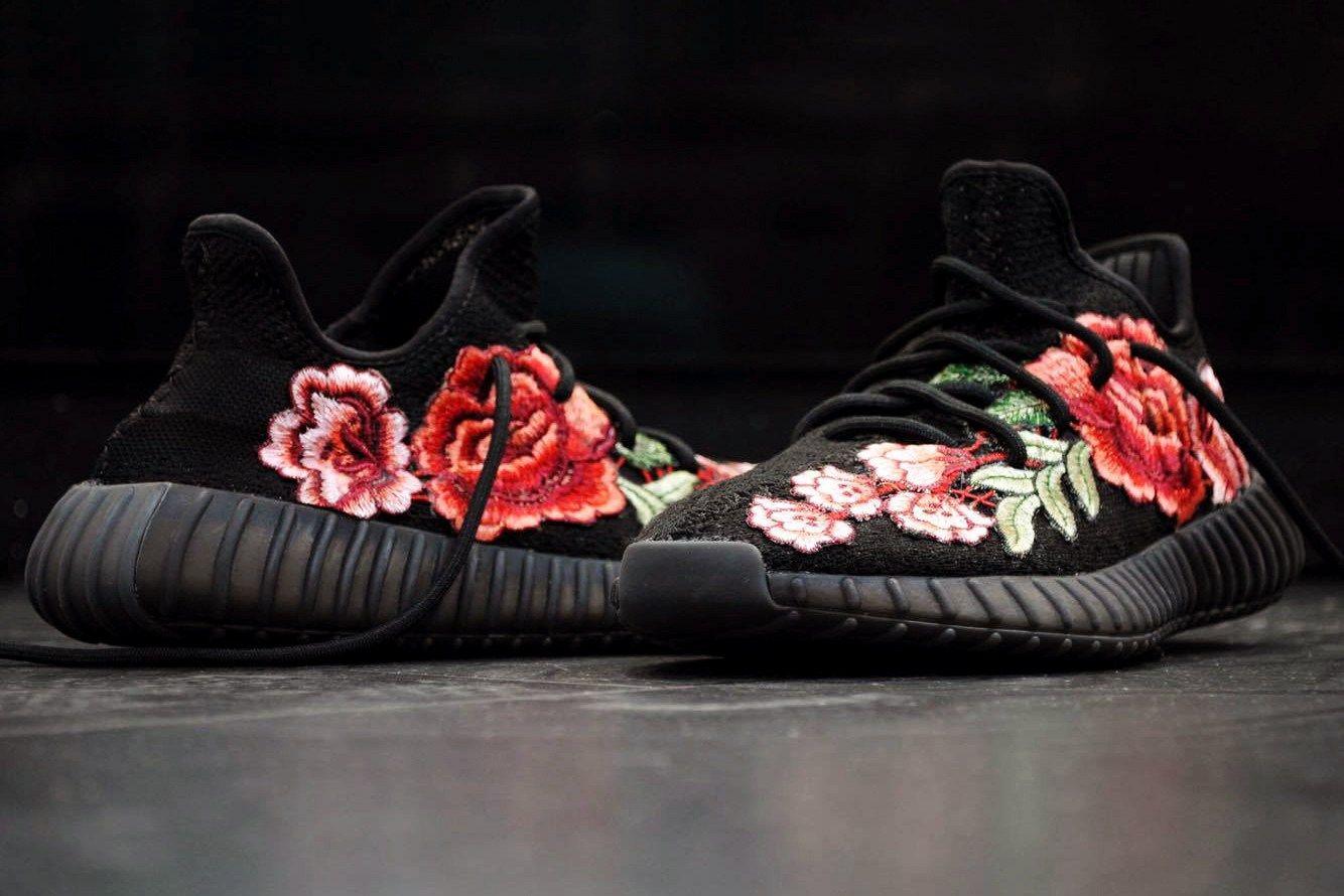 Adidas Yeezy Boost 350 V2 fre aduanas Flowerbomb patrón floral