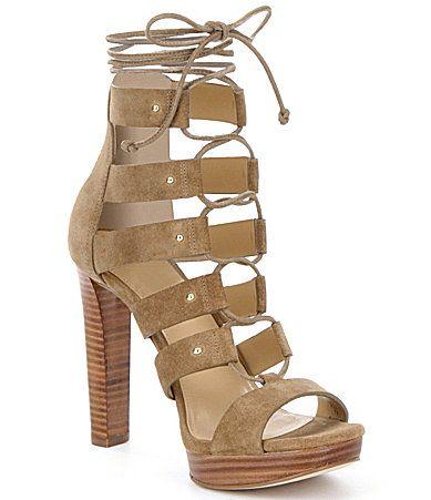 MICHAEL Michael Kors Sofia Platform Sandals #Dillards | Schuhe