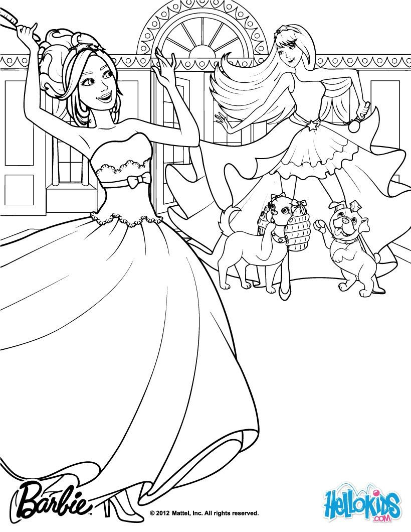 Tori Keira Are Bff Barbie Coloring Page More Barbie The