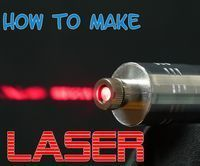 Hello today im going to show you how to make a powerful burning laser…