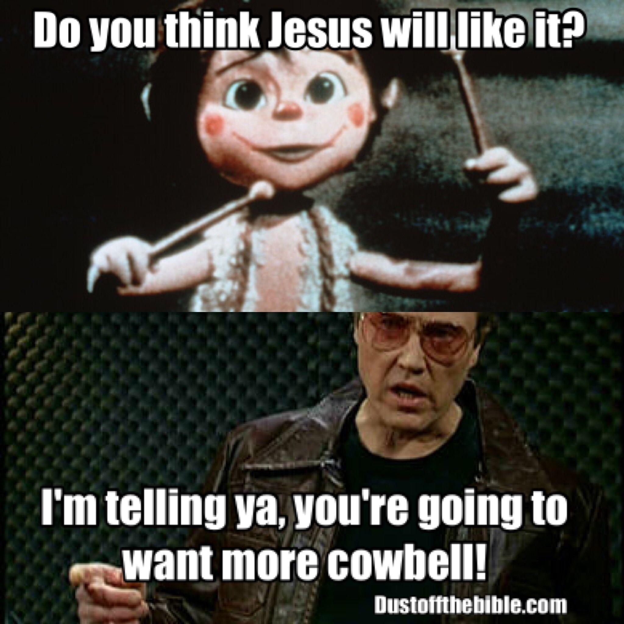 More cowbell Christmas meme #christmas #memes | Christian memes ...