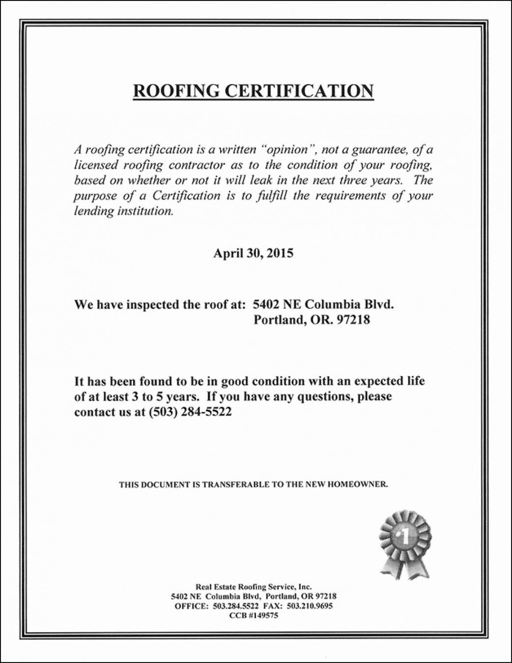 Pin On Best Template Ideas Roofing certificate of completion template