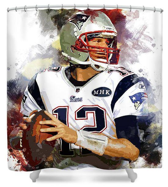 Tom Brady New England Patriots Shower Curtain Tom Brady News