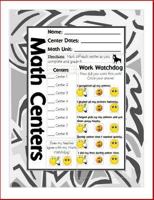 Mrs. Terhune's First Grade Site!: Centers