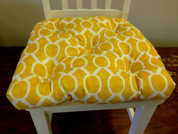 Set of 4 Custom made Tufted chair pads seat by kirtamdesigns, $160.00