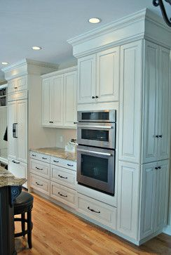 ... MA Featuring Brookhaven Maple Cabinets With Antique White Finish And  Granite Countertop. Design And Installation By Kitchen Associates Of  Sterling, MA.
