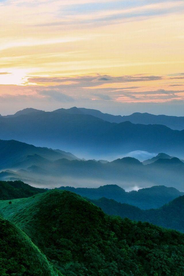 Sunrise Above The Mountains Landscape Sky Landscape Mountain Wallpaper