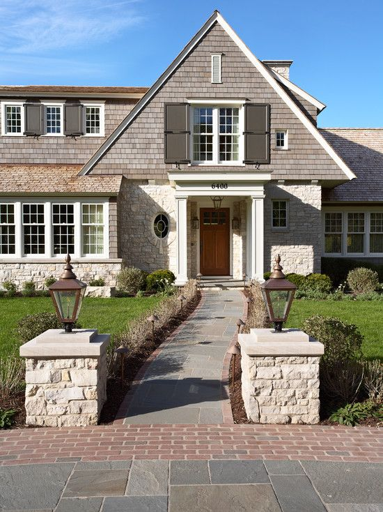 Mirror Lake Shingle Style   Traditional   Exterior   Minneapolis   Murphy U0026  Co. Design *Love Accent Stone* And Idea For Window Design On Front Porch*