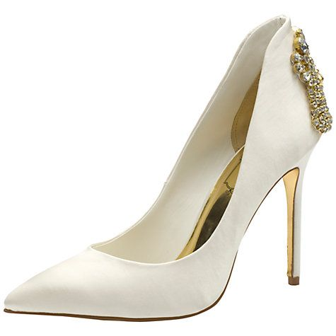 buy ted baker tie the knot mieon satin court shoes cream. Black Bedroom Furniture Sets. Home Design Ideas
