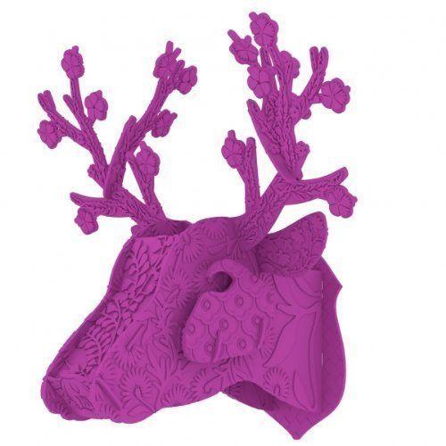 Eco-trofeo ciervo Framboise de MIHO Unexpected things, en @2150idees.