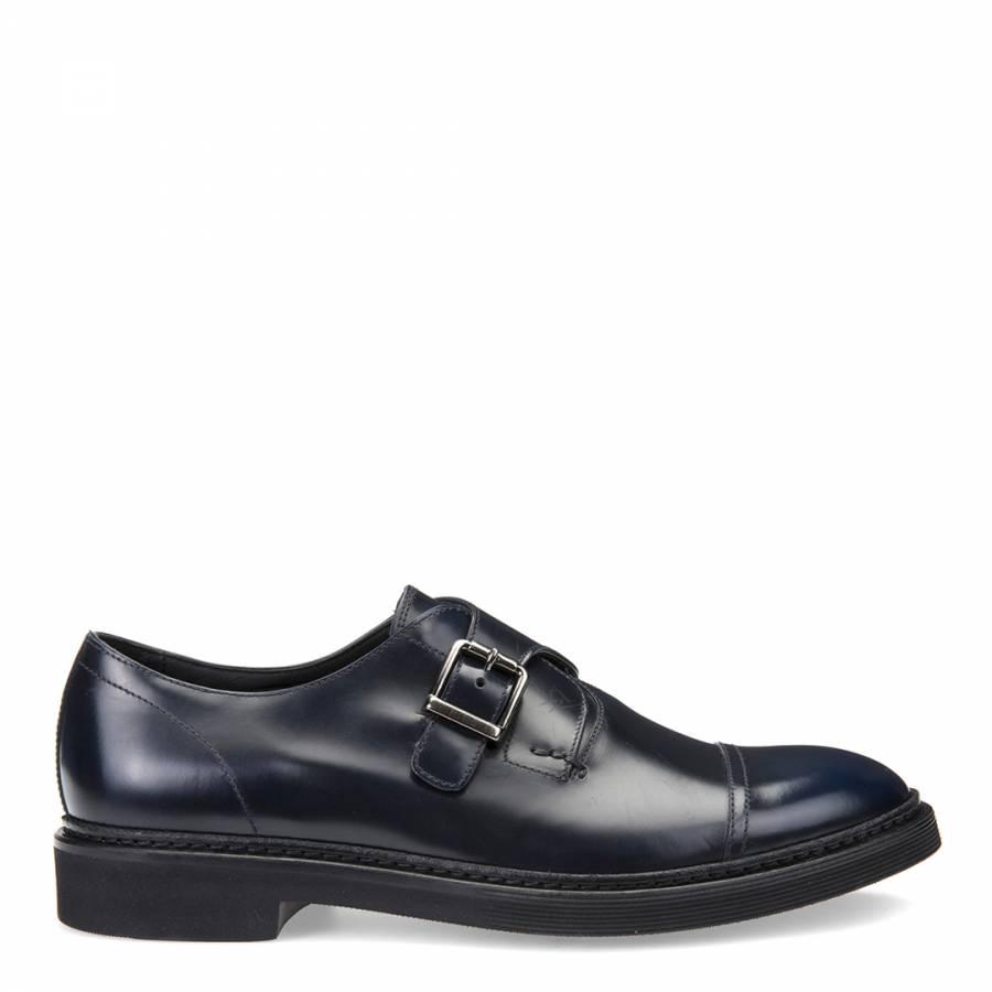 Confidencial Andes Colapso  Geox Men's Navy Leather Monk Strap Shoes   Monk strap shoes, Men ...