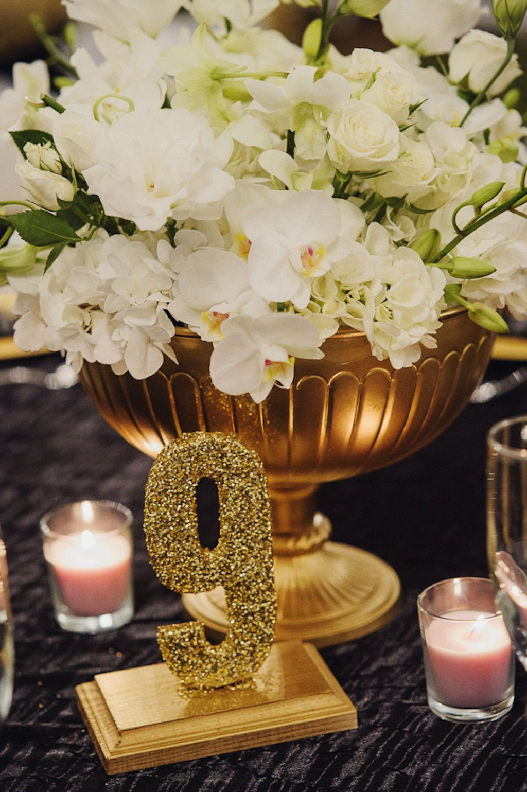 White, Gold & Black Rustic New Year's Eve Rocking H Ranch